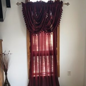 Other - Sheer Curtains with Valance